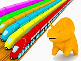 Learn colors with Dino the dinosaur : the Trains