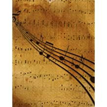 Music Notebook: Blank Music Notebook Background Classic Music Notes 8.5 X 11 110 Pages 10 Stave