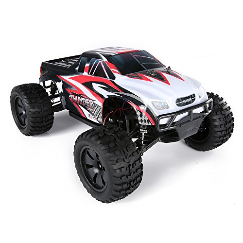 10 Electric 4wd Truck (Virhuck ZMT-10/ZDRACING 9106 Thunder 1/10 Scale 4WD RC Monster Truck, 2.4GHz RC Buggy Racing Car Off-road Vehicle, Splashproof 45A ESC/3.5kg High-torque Servo/Brushless Version/High Speed up to 31MPH)