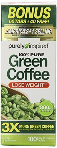 Purely Inspired Green Coffee Bean 100 Count, 2 Pack
