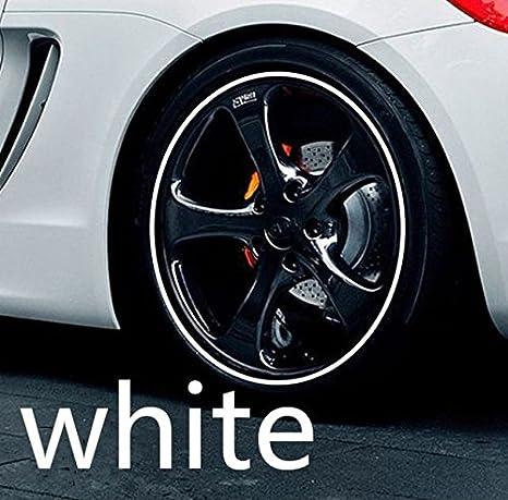 8mm X 8m Weiß Weiss Felgenrand Alufelgenschutz Selbstklebende Protektor Band Kunststoff Schutzstreifen Schutz Streifen Kunststoff Aufkleber Profil Zum Schutz Der Felge Hallenwerk 101822 Auto