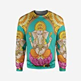 iPrint Mens Succulent Pullover Sweater
