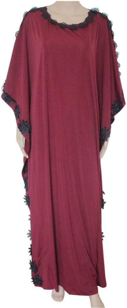 DAIDAILYQ Diseño Casual Vestido De Las Mujeres De Kaftan Estilo Africano Vestido Largo Maxi