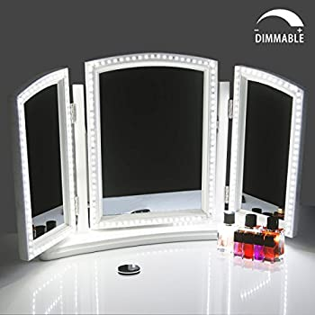 makeup kit lighting style dp with hollywood dressing mirror fixture on stick dimmable vanity led for strip lights image