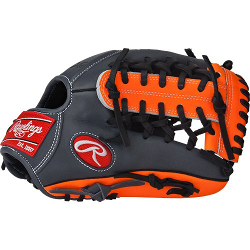 Trapeze Web Modified (Rawlings  Gamer XLE Gloves with Pro Taper Modified Trap-Eze Web, Left Hand, Grey, 11.5