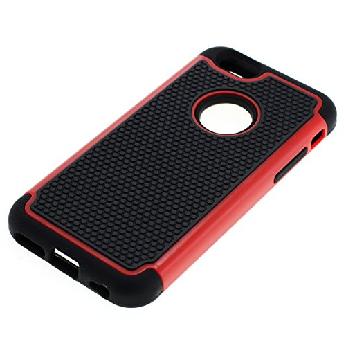OTB ShockProof pour Case/Coque de protection pour Apple iPhone 6/iPhone 6S Noir Rouge
