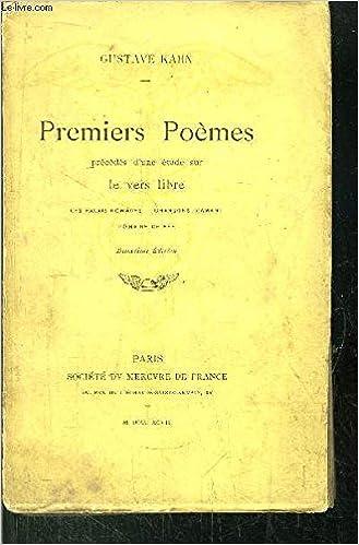 Amazonfr Premiers Poèmes Précédés Dune étude Sur Le Vers