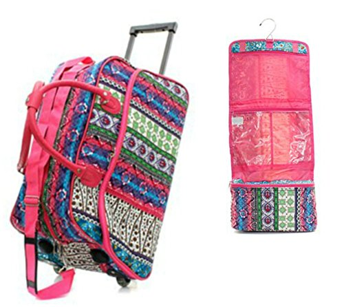 Carry On Rolling Travel Set Boho Patchwork - 1 21