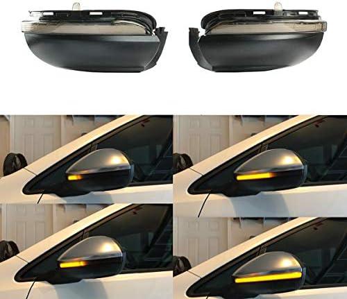 Een paar spiegelknipperlichten auto dynamische LED knipperlichten voor Golf MK6 GTI 6 R20 MKVI Touran