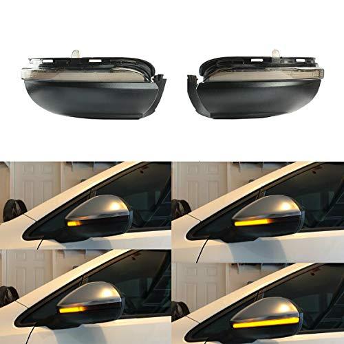1 Pair Left +Right Mirror Indicator Dynamic LED Turn Signal Lights Mirror Indicator Marker for for VW Golf MK6 GTI 6 R20 MKVI Touran