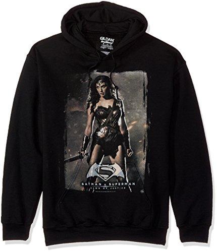 Trevco Men's Batman Vs. Superman Ww Poster Hoodie Sweatshirt at Gotham City Store