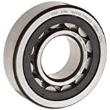 FAG NU204E-TVP2-C3 Cylindrical Roller Bearing, Single Row, Straight Bore, Removable Inner Ring, High Capacity, Polyamide Cage, C3 Clearance, 20mm ID, 47mm OD, 14mm Width