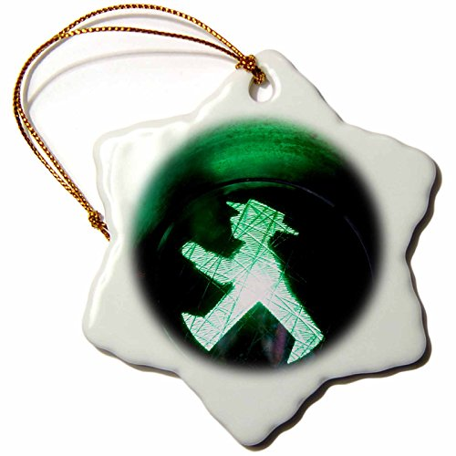 3dRose orn_188161_1 Germany Berlin Alexanderplatz Museum Ampelmann Snowflake Ornament, Porcelain, 3-Inch (Communist Ornaments Christmas)