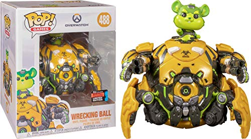 Funko Pop! Games: Overwatch - 6 Inch Toxic Wrecking Ball Vinyl Figure, Fall Convention Exclusive, Amazon Exclusive
