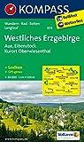 Westliches Erzgebirge - Aue - Eibenstock - Kurort Oberwiesenthal: Wanderkarte mit Kurzführer, Radwegen und Loipen. GPS-genau. 1:50000 (KOMPASS-Wanderkarten, Band 806)