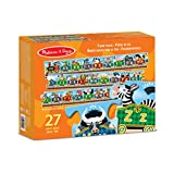 Melissa & Doug Alphabet Express Jumbo Jigsaw Floor Puzzle (Floor Puzzles, Easy-Clean Surface, Promotes Hand-Eye Coordination, 27 Pieces, 3.048 Meters Long)