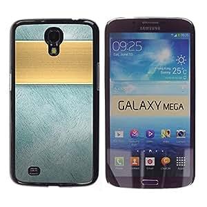 Jordan Colourful Shop - Faux Gold Band Metallic Texture For Samsung Galaxy Mega 6.3 Custom black plastic Case Cover
