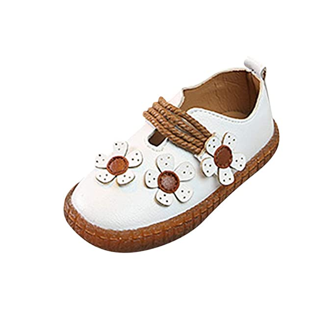 6cf96e15492 Berimaterry Zapatos para Bebes Niña Elegantes Suela Blanda Zapatos de  Princesa 2019 Verano Fiesta Bautizo Sandalias para Bebés La Flor Blancos  Zapatos para ...