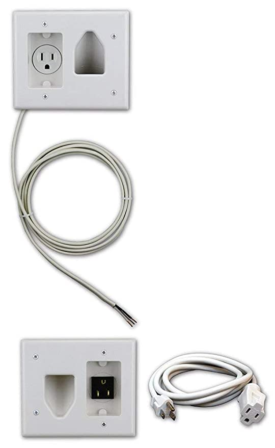 Tremendous Amazon Com Datacomm Electronics 50 3323 Wh Kit Flat Panel Tv Cable Wiring Digital Resources Bletukbiperorg