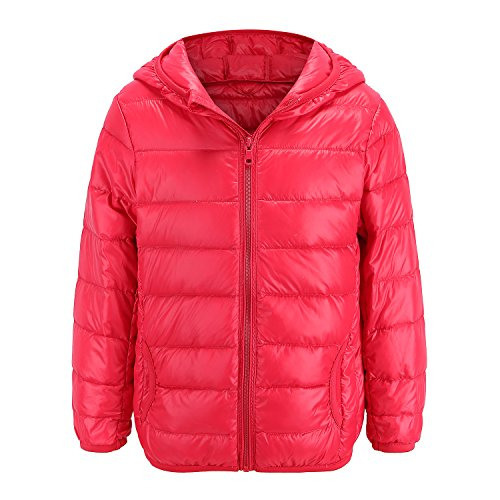 Oriental Pearl Baby Boys Girls Lightweight Hooded Down Coat Packable Puffer Padded Jacket