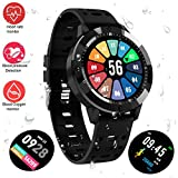 Fitness Tracker Watch, Upgraded Swim Water-Resistant HD Color Screen Smart Bracelet, HR/Blood Oxygen/Pressure/Calorie/Sleep Monitor Pedometer Activity Tracker for Android/iOS(1.3'' Black)