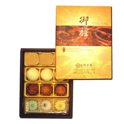Sheng Kee 12pc Combo Gift Box(P)- 3sm-Moon Cake(Date/Lotus/Red Bean)/Pineapple Pastry/Green Bean Pastry/Fruit Cake(Strawberry, Mango, Honeydew)