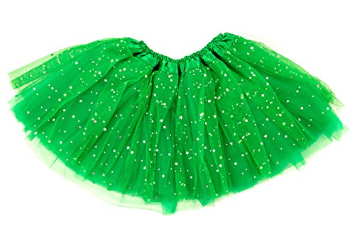 Dancina Mardi Gras Parade Infant Tutu for 6-24 Months Green -