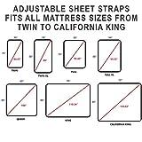 FeelAtHome Bed Sheet Holder Straps Criss-Cross