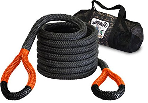 (BILLET4X4 Bubba's Monster Kinetic Snatch Rope with Carry Bag - 1-1/4 inch X 30 ft (32mm x 9m Long) (Vehicle Recovery))
