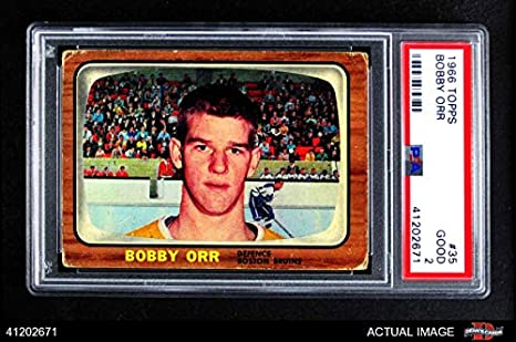 pretty nice f8dcc be01e Amazon.com: 1966 Topps # 35 Bobby Orr Boston Bruins (Hockey ...