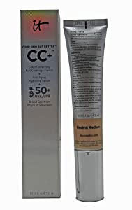 It Cosmetics Your Skin But Better CC Cream SPF 50 Neutral Medium 1.08 Ounce