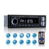 MEKUULA 1 DIN Car Stereo Bluetooth, 4x60w Car FM Radio Receiver MP3 Player with Remote Control Support AUX/USB / SD/Remote