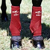 Professionals Choice Equine Smbii Leg Boot, Pair (Small, White)