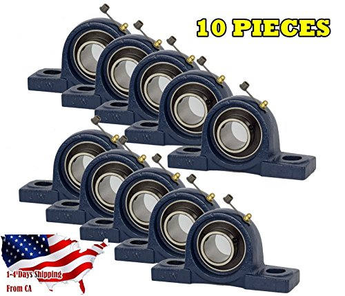 10 Pieces UCP205-16, 1 inch Pillow Block Bearing Solid Base, Self-Alignment, Brand New (Block Mounted Bearings Pillow)