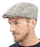 New Adults Unisex Mens Ladies Tweed Country Style Flat Cap Hat Fully Lined, Beige, Large / X-Large