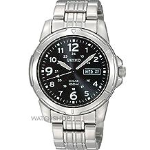 Seiko Men's Solar SNE095 Black Stainless-Steel Quartz Watch