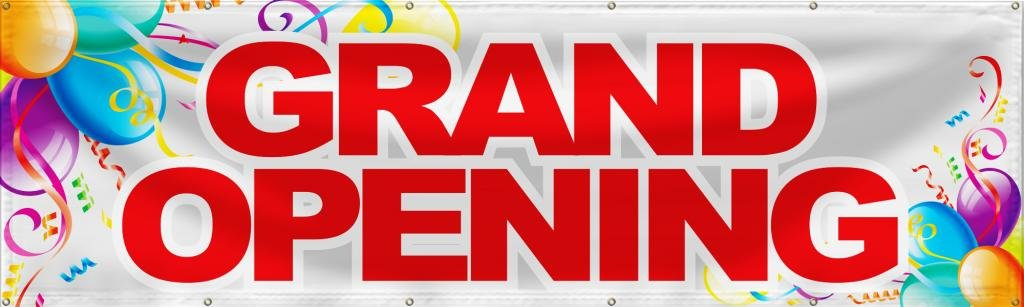 Wall26 Grand Opening Banner Sign Store Signs Flag - 36x120 by wall26