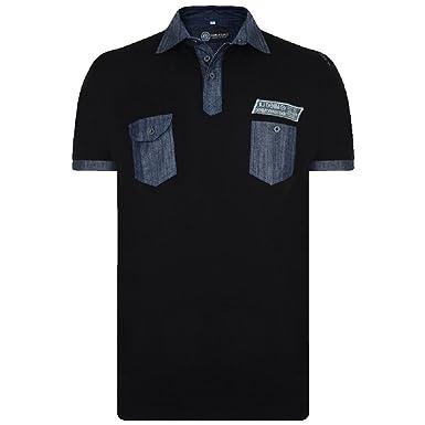 Kam Big Para Hombre King Size Camisa Polo Cuello T Shirt Camiseta ...