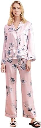 Pijama Casual de Mujer de Seda de la Ropa Corta Pijamas ...
