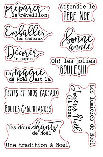 - French Words Transparent Clear Silicone Stamp/Seal for DIY Scrapbooking/Photo Album Decorative Clear Stamp Sheets A877