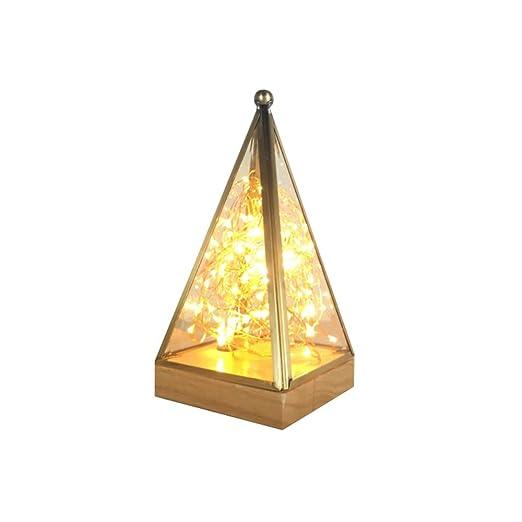 LXQIY Lámpara de Mesa Vidrio Lámpara de Mesa Minimalista ...