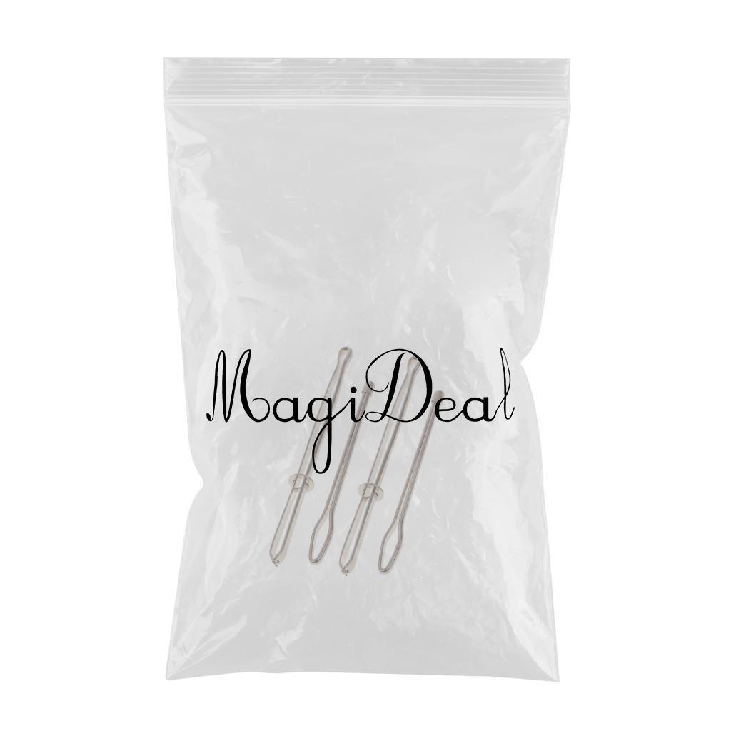 MagiDeal 4 Pieces Bodkin Needles Pinch Thread Ribbon Elastic Wool Rugs Craft Repair Tools