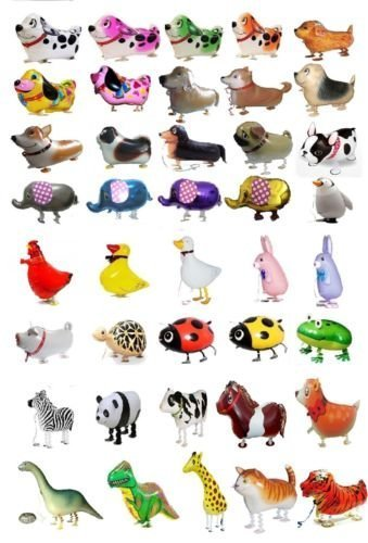 SET OF 100 WALKING ANIMAL BALLOON PETS AIR WALKERS, MIXED by MY BALLOON STORE® TM