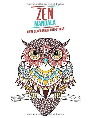 Zen Mandala Livre De Coloriage Anti Stress Theme Des Animaux