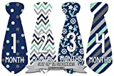 Months in Motion 702 Monthly Baby Stickers Necktie Tie Baby Boy Months 1-12