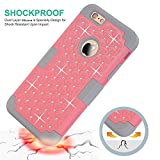 iPhone 6S Case,iPhone 6 Case,Anna Shop Studded Rhinestone 3in1 Shockproof Hybrid Full-body Protective Case Hard Cover PC+Silicone Full Body Protective High Impact Defender Cover For iPhone 6 6S