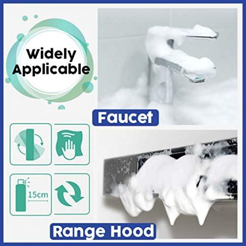 Wanshop Effizienter Küchenfettreiniger Reinigungsset Mehrzweck Schaumreiniger Allzweck-Blasenreiniger Reiniger (1X Reiniger + 2x sauberes)