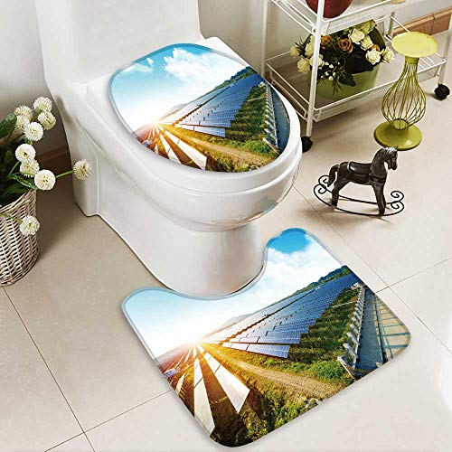 Analisahome 2 Piece Bathroom Mat Set photovoltaic panels for renewable electric production navarra aragon spain Personalized Durable by Analisahome