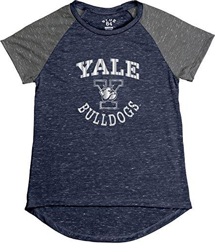 Bulldogs Tee Pack - NCAA Yale Bulldogs Women's Gracie Confetti Raglan Tee, X-Large, Navy