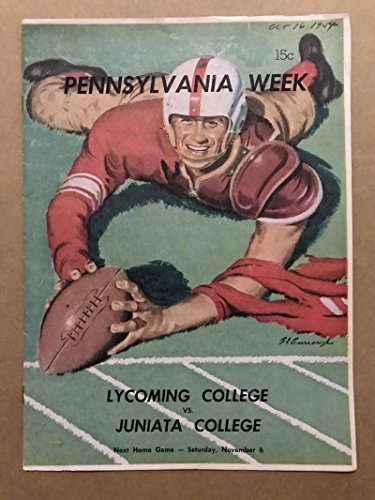 JUNIATA COLLEGE (PA) LYCOMING COLLEGE COLLEGE FOOTBALL PROGRAMS 1954 -